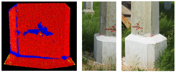 Point clouds are challenging for the engineering surveyors that use laser scanners or digital cameras. These are valuable tools to describe the geometry of surfaces, to measure, and to evaluate changes.