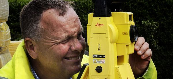 Mike Sharp & Son purchased a Leica iCON robotic total station.