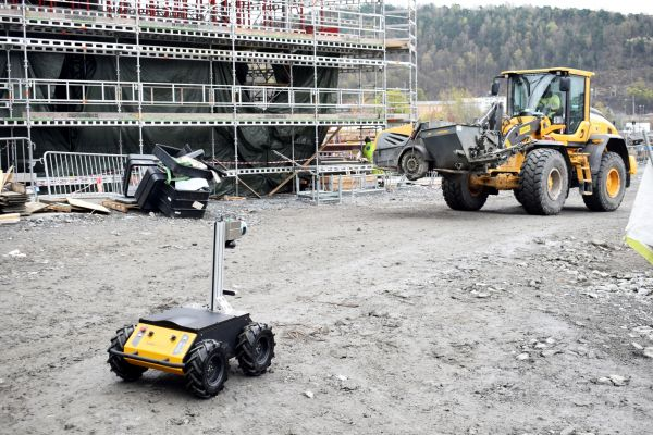 Scaled Robotics' mapping robot solution deployed onsite.