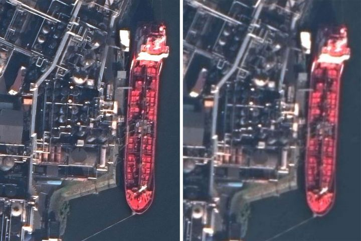 Hamburg Port, Germany. Image at native 30 cm compared to Maxar 15 cm HD.