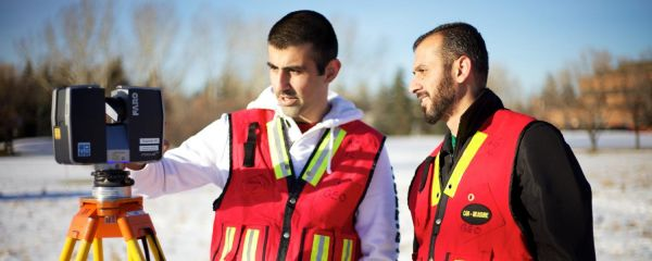 Varied and exciting careers in geomatics engineering involve skills ranging from computer modelling and lab experiments to field work. (Photo: University of Calgary)